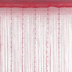 RIDEAU Rideau fils fantaisie - Rouge - 90cm x 2cm