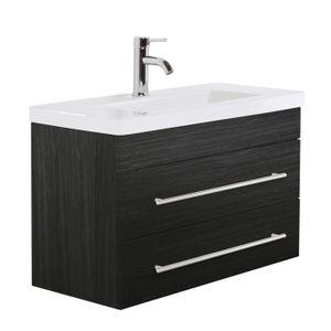 MEUBLE VASQUE - PLAN Meuble salle de bain Mars 800 SlimLine Charbon ant