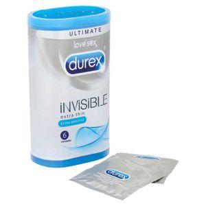PRÉSERVATIF Durex Invisible extra sensible 6 Pack Préservatifs