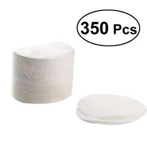 NAPPE DE TABLE 350pcs filtres à café en papier blanchis ronds de