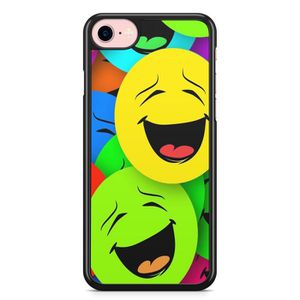 COQUE - BUMPER Coque iPhone 5 et 5S et SE Emoji rire Vintage Fluo