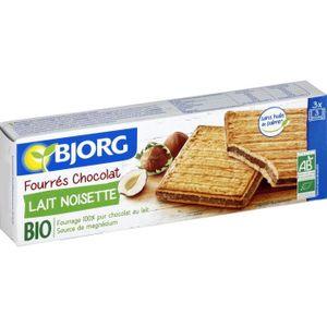 BISCUITS CHOCOLAT Bjorg Fourrés Chocolat Lait Noisettes 225g