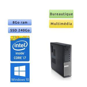 UNITÉ CENTRALE  Dell Optiplex 790 SFF - Windows 10 - i7 8Go 240Go