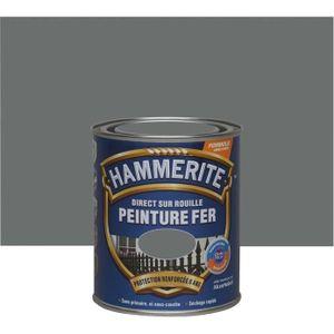 PEINTURE - VERNIS Hammerite fer martelé 0.75l gris ardoise