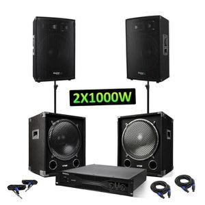 PACK SONO Pack sono - 2 caissons 2x1200W + 2 enceintes 2x600