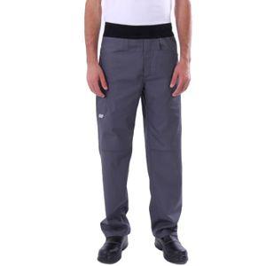 PANTALON PRO Pantalon de Cuisine Confort Gris