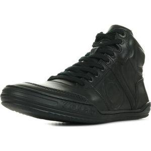 BASKET Kickers Basket haute Cuir Homme Noir