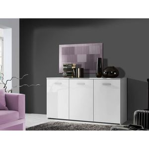 BUFFET - BAHUT  PASSAT Commode contemporain blanc mat - L 150 cm