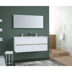 SALLE DE BAIN COMPLETE TOTEM Salle de bain 120cm - 4 tiroirs fermetures r