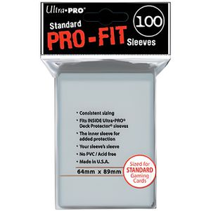 CARTE A COLLECTIONNER Ultra Pro 50 pochettes Pro-Fit transparent