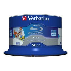 CD - DVD VIERGE VERBATIM Lot de 50 Blu-ray Disc-R DataLife - 25 Go