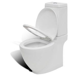 WC - TOILETTES Cuvette WC carré blanche en céramique Design spéci