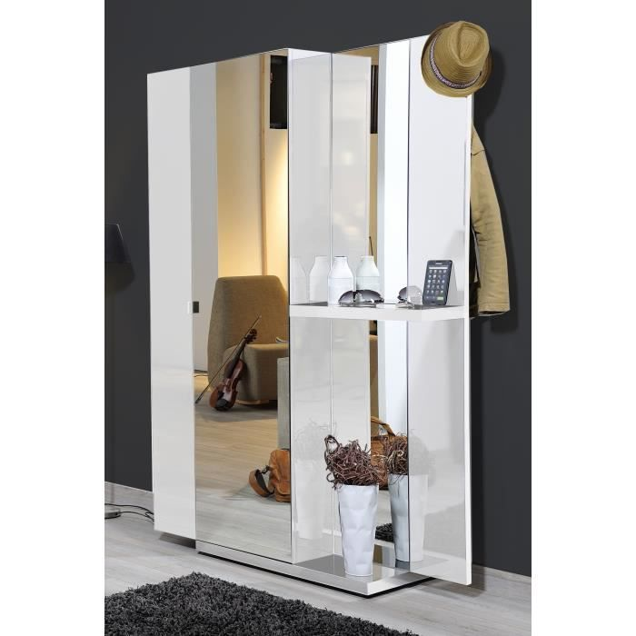 vertigo vestiaire laqu blanc l118 cm achat vente. Black Bedroom Furniture Sets. Home Design Ideas