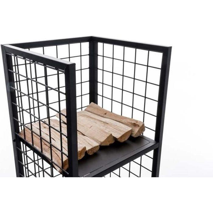 CLP Support bois de cheminée FORREST, étagère bûches, 40x40, hauteur 120 cm