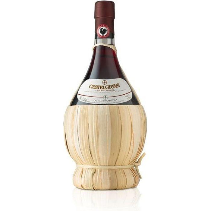 vin rouge italien Chianti Classico DOCG Castelgreve fiasco cl. 50 Castelli del Grevepesa Castelgreve 1 bouteille