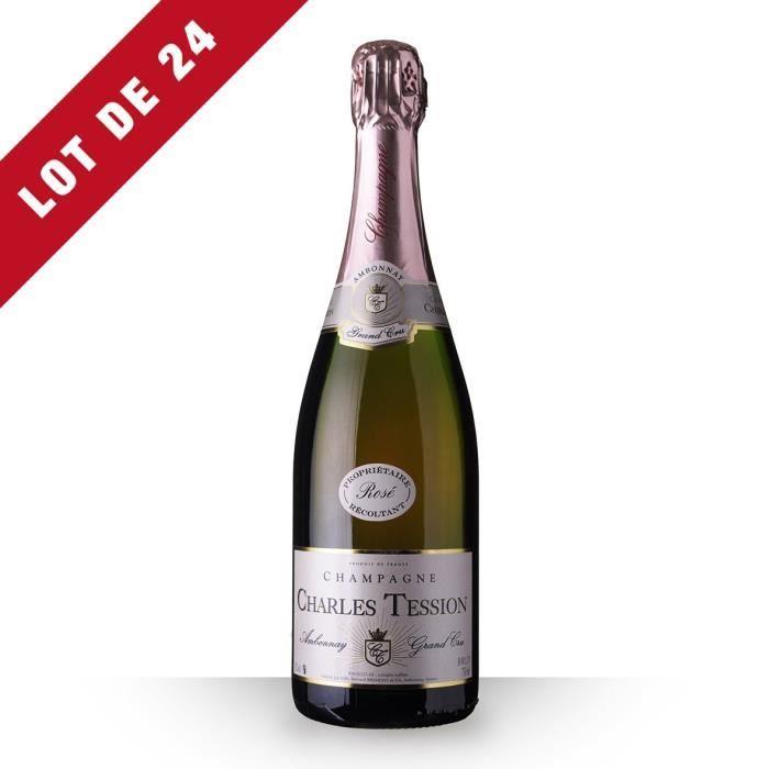 24X Charles Tession Brut Rosé 75cl Grand Cru - Champagne