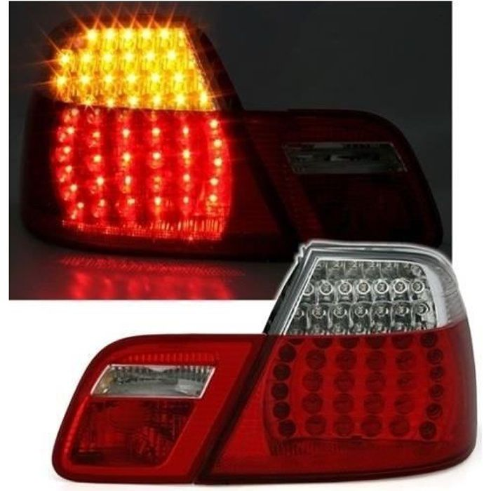 2 FEUX ARRIERE A LED BMW E46 SERIE 3 COUPE PHASE 2 DE 04/2003 A 2006