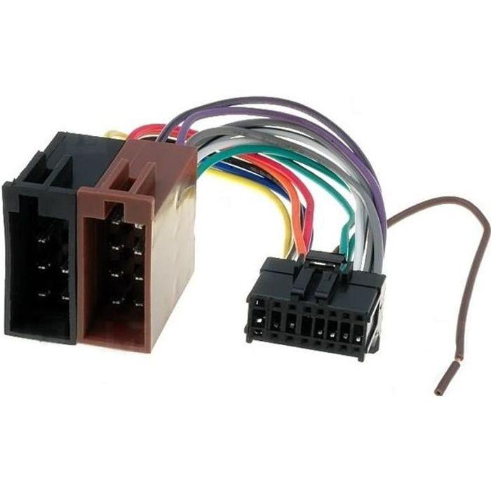 Cable Faisceau Connecteur ISO Pioneer autoradio 16 pins