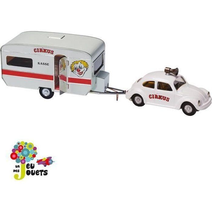 Voiture cirque coccinelle VW Beetle et caravane...