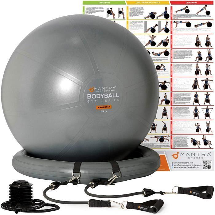 Swiss Ball - Ballon Grossesse - Balle de Fitness 55 cm, 65 cm, 75 cm Pour Pilates, Yoga, Gym Chaise Ballon – Epais, Anti Eclate 16