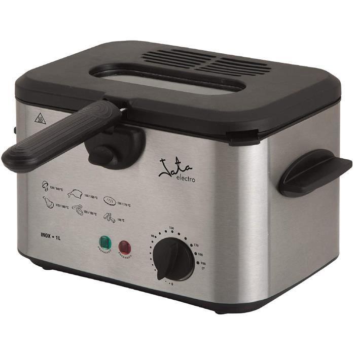 FRITEUSE Jata FR226 Friteuse avec capacit&eacute de 1 l en acier inoxydable Panier de grande capacit&eacute avec poign&eac146