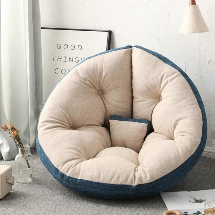 Sofa Paresseux Se Pliant Sac de f&egraveves en Tissu Canapé Petit Appartement Simple Tapis Pause D&eacutejeuner Chaise 518