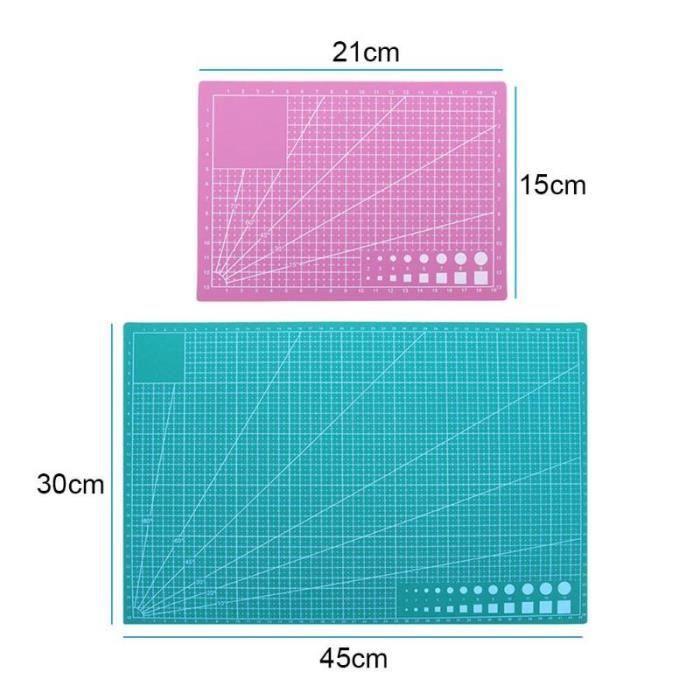MOR Tapis de découpe en PVC Double face Plaque design gravure, tapis de planche à découper, outils de Patchwork faits main A3-A5
