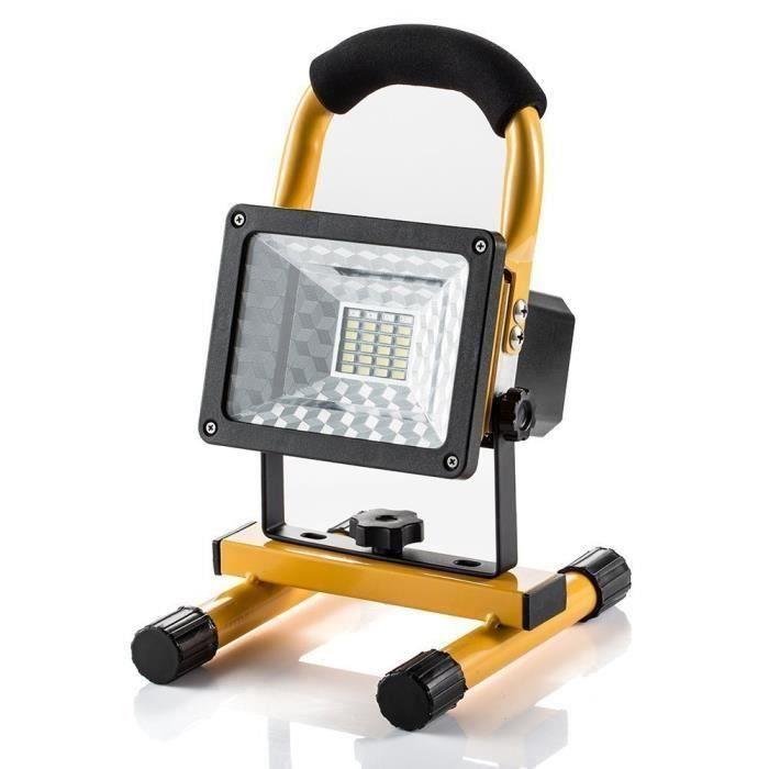 Projecteur Led Rechargeable Super Lumineuse 30W Floodlight, Torche Lampe 7 Heure Work Light Sans Fil Portable Pour Chantier Garage