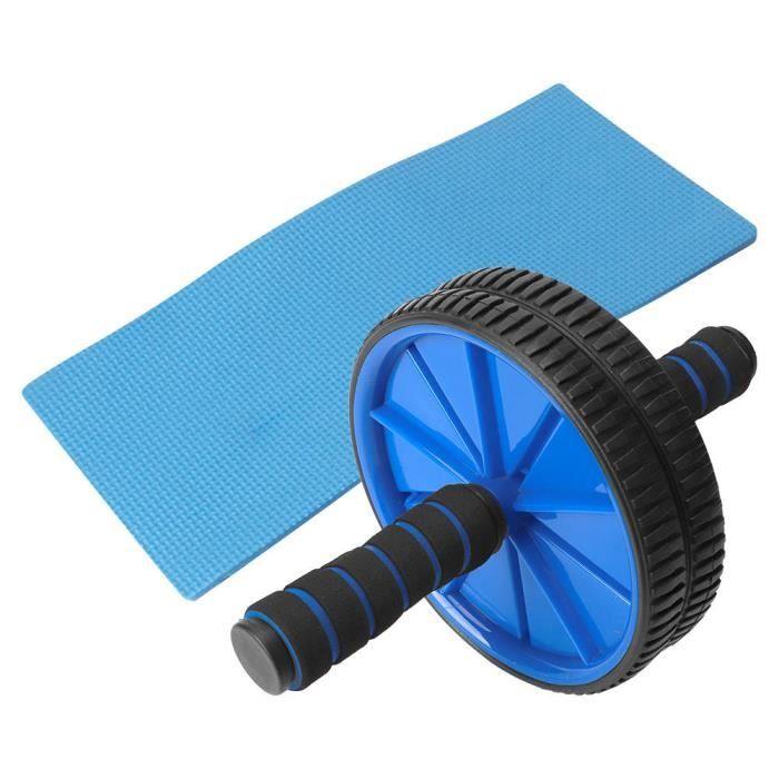 Roue pour abdominaux, exercice pour abdominaux, avec équipement d'exercice pour genouillères Équipement d'entraînement à