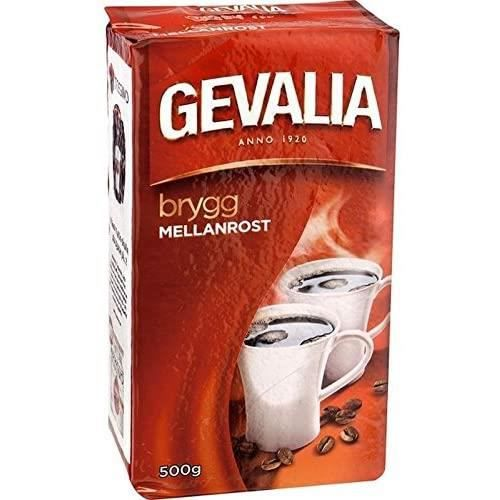 Gevalia Kaffe Mellanrost - Moyen Torréfié Moulu Café Filtre 500G - Paquet de 2