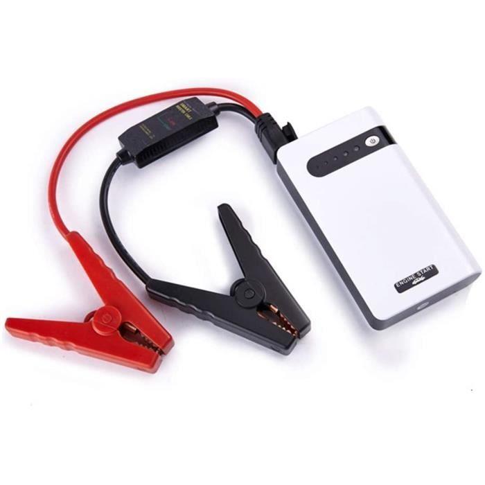 Booster de Batterie Voiture Professionnel Chargeur de Batterie 12000mAh 30000mAh 12V avec Port USB et Lampe de Poche à Del pour de V