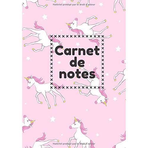 Carnet de notes: Cahier de notes Licorne Kawaii, Journal de tâche quotidien - Suivi de vos tâches, modèle d'activités - À faire et