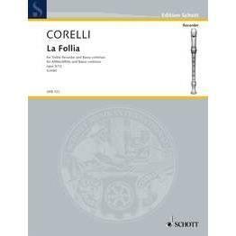 Folia, de Arcangelo Corelli - Recueil pour Flûte à Bec édité par Schott Publishing référencé : SCHOFB121