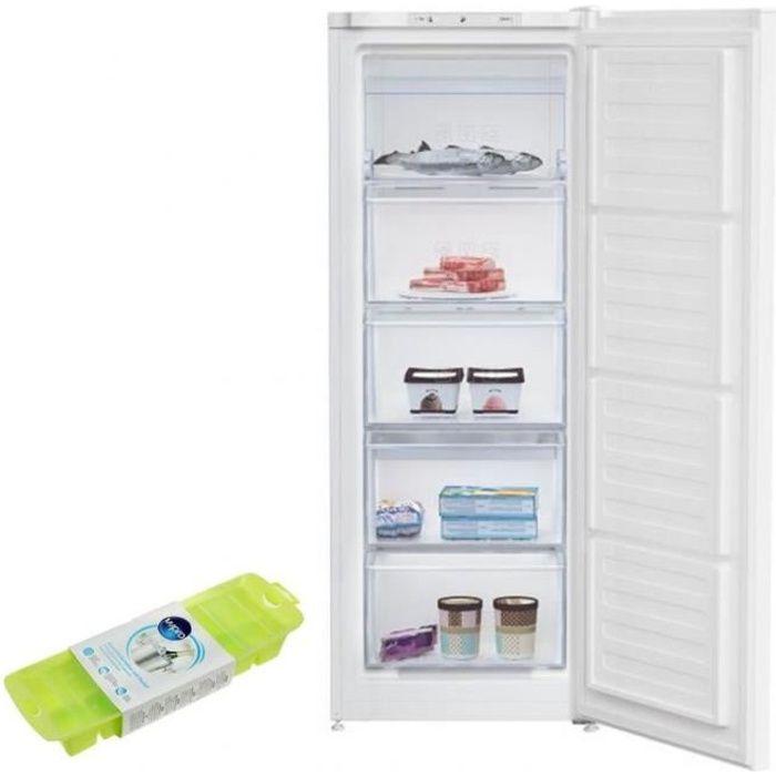 BEKO Congélateur armoire vertical blanc Froid statique 167L Autonomie 22h Freezer 61 Blanc