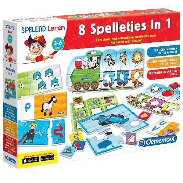 apprentissage ludique Clementoni Learning Game Jeux 8in1