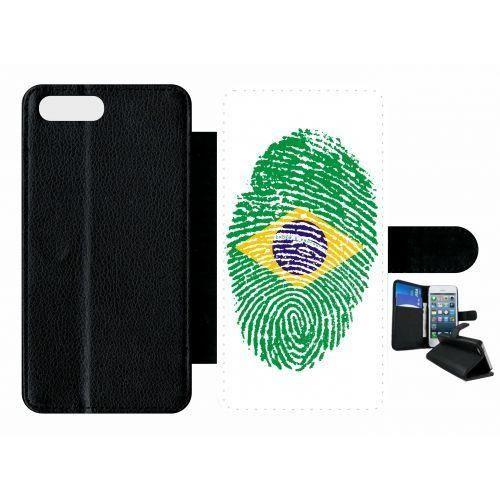 etui rabat apple iphone 7 plus empreinte digitale drapeau bresil brazil!!!