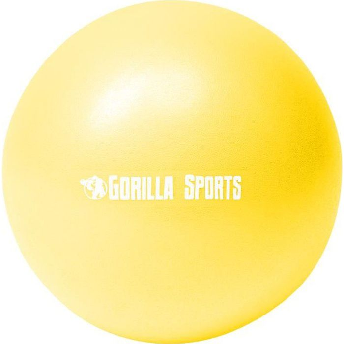 Mini-ballon d'exercice jaune, ballon léger de Pilates Soft Ball - Diamètre : 23 cm