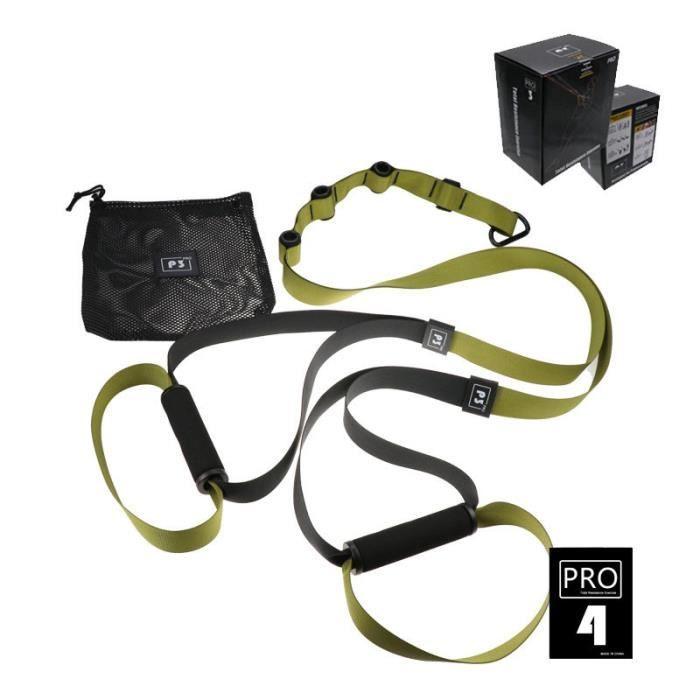 Elastique de Résistance Musculation Fitness Pro 4 Vert