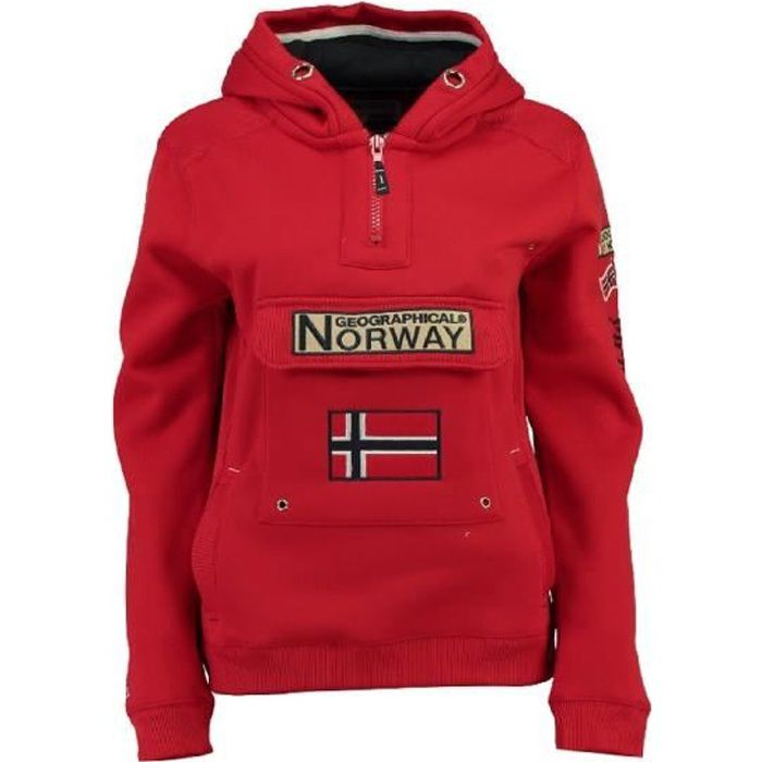 Sweat Homme Geographical Norway Gymclass New B Rouge