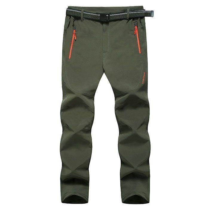 Couleur Unie Respirant Soft Shell Pantalon Épaississement Chaud Ample Extérieur Pantalon Pour Homme