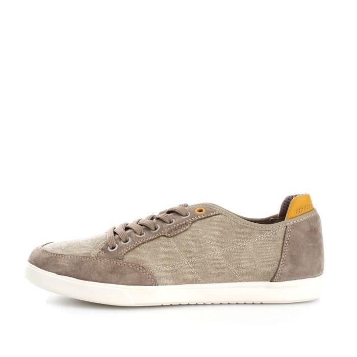 Geox U722CANB22 chaussures de tennis faible homme ECRU