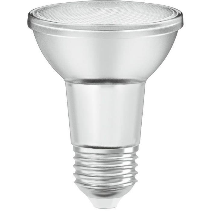 OSRAM Spot PAR20 LED 36° verre variable - 5 W = 50 W - E27 - Blanc chaud