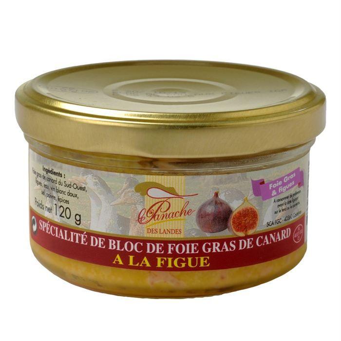 Bloc de Foie Gras de Canard à la Figue 120g x1