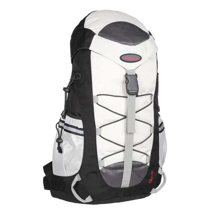 ASPENSPORT Backpack Sky - Sac à dos 35 Litres Noir et Blanc