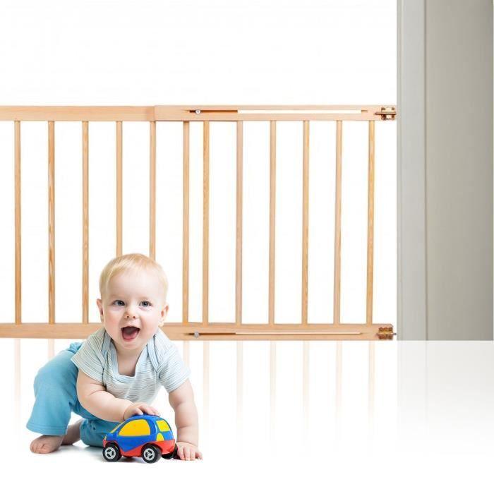 SPRINGOS® Barrière de sécurité pour portes pour escaliers 72 à 122 cm