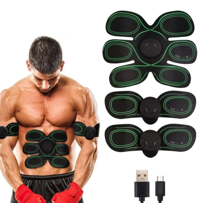 TD® Electrostimulateur musculaire abdominal tens ems muscles abdominal biceps appareil musculation domicile brûle graisse