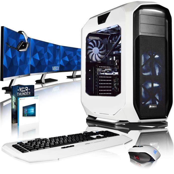 Vibox Rapture Xr760 356 Pack Pc Gamer Intel 10 Core, Nvidia Gtx 1060 Gaming Ordinateur de Bureau avec 64 Go Ram, 2 To Hdd, Ssd 4