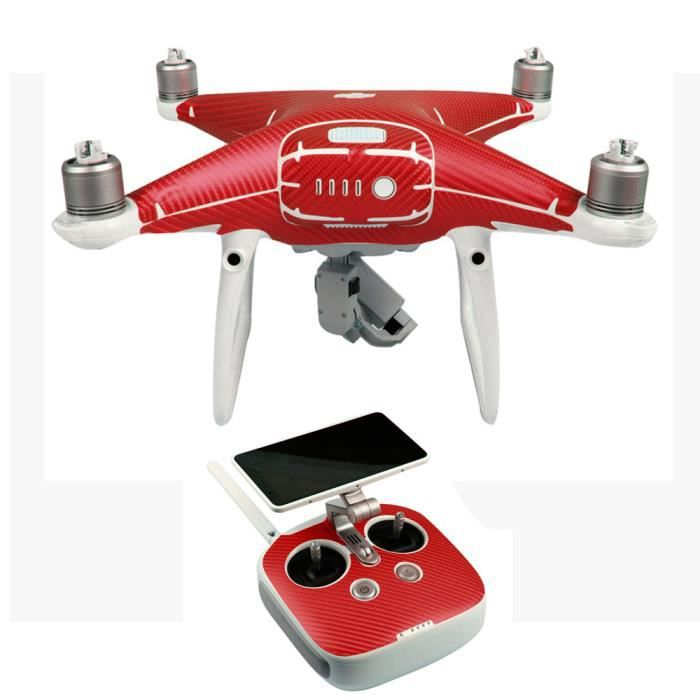 body skin enveloppe autocollant pour dji phantom 5 pro pro drone controller rouge achat. Black Bedroom Furniture Sets. Home Design Ideas