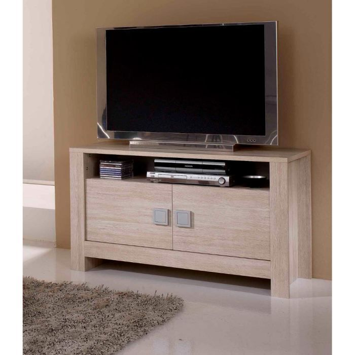 meuble tv pisa blanchi achat vente meuble tv meuble tv. Black Bedroom Furniture Sets. Home Design Ideas