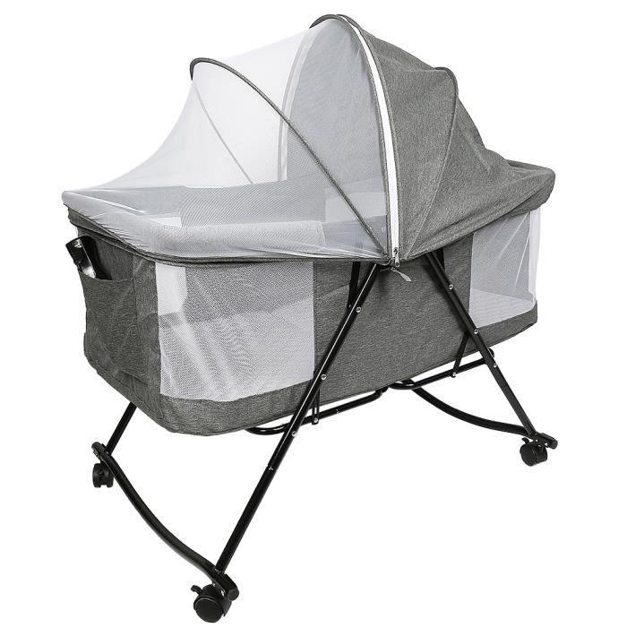 Berceau bébé pliable Lionelo VERA avec moustiquaire et sac de transport